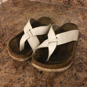 Birkenstock White Casual Sandals